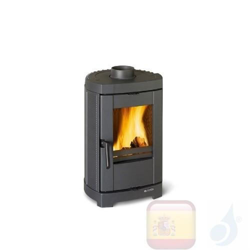 La Nordica Estufas de leña Brigitta GB 4.7 kW Hierro fundido Negro serie Fundido de hierro esmaltado 7119401 A+ Extraflame