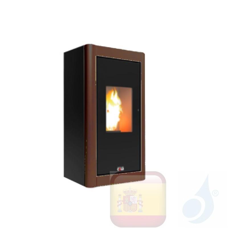 Estufa de pellets Cola 6.3 kW Premium metal Ruggine - Rust