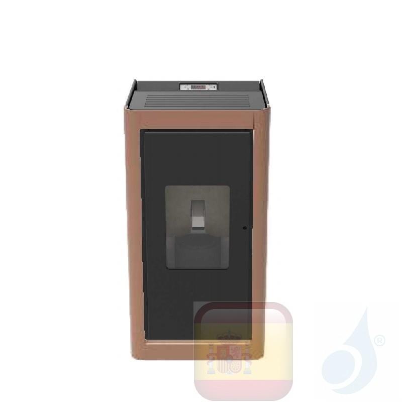 Estufa de pellets Cola 6.3 kW Premium metal Bronce
