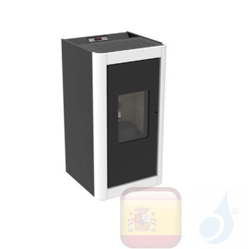 Estufa de pellets Cola 6.3 kW Premium metal Blanco