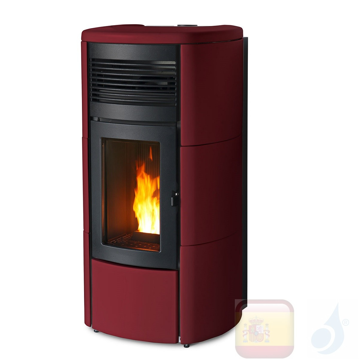Estufa de pellets MCZ 13.9 kW Club Comfort Air Matic 14 M1 Bordeaux