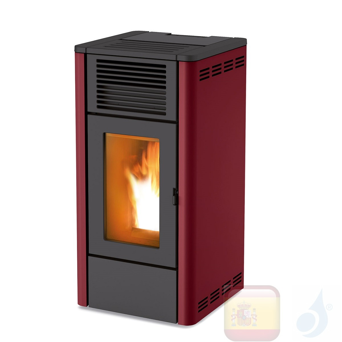 Estufa de pellets MCZ 8.0 kW Giò Air 8 S1 Bordeaux