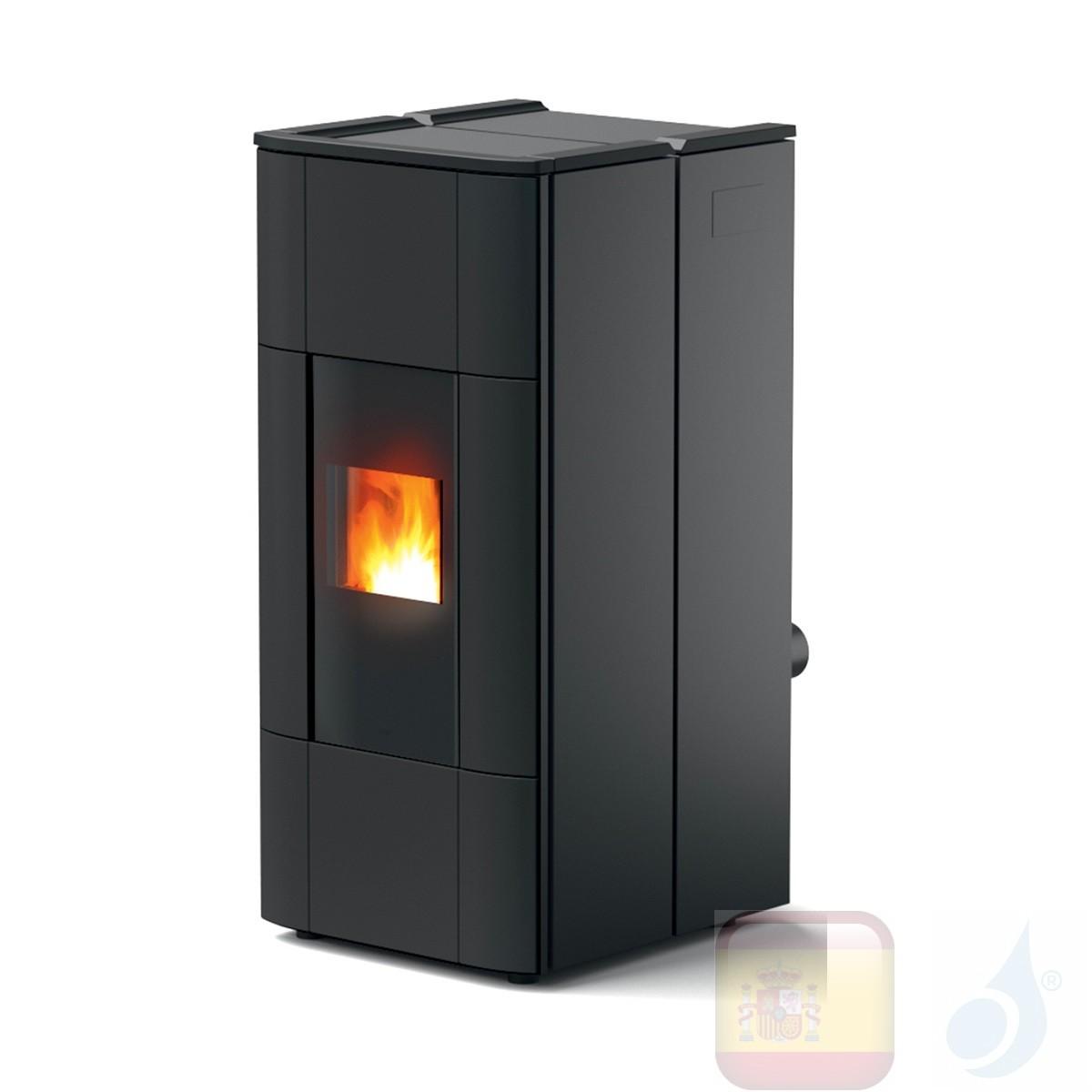 Estufa termo de pellets MCZ 28.5 kW Jazz Hydromatic 30 M1 Negro