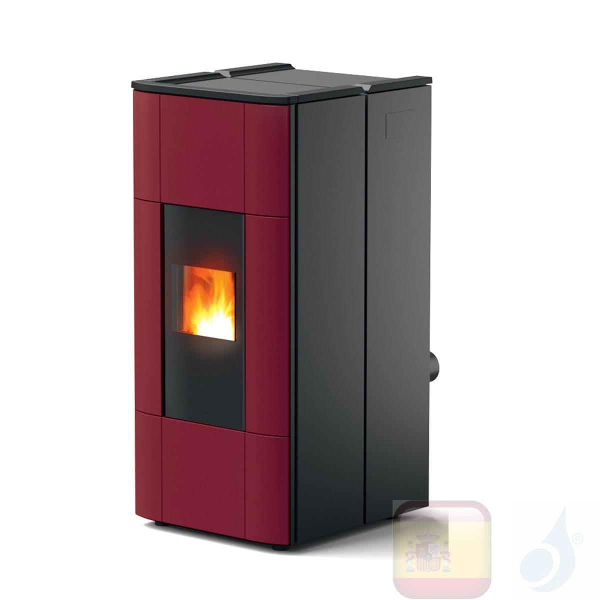 Estufa termo de pellets MCZ 28.5 kW Jazz Hydromatic 30 M1 Bordeaux