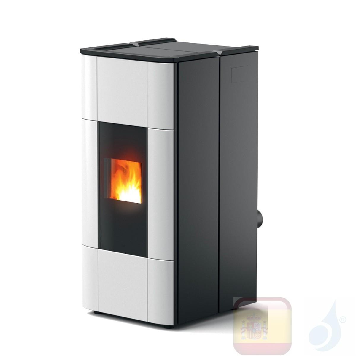Estufa termo de pellets MCZ 28.5 kW Jazz Hydromatic 30 M1 Blanco
