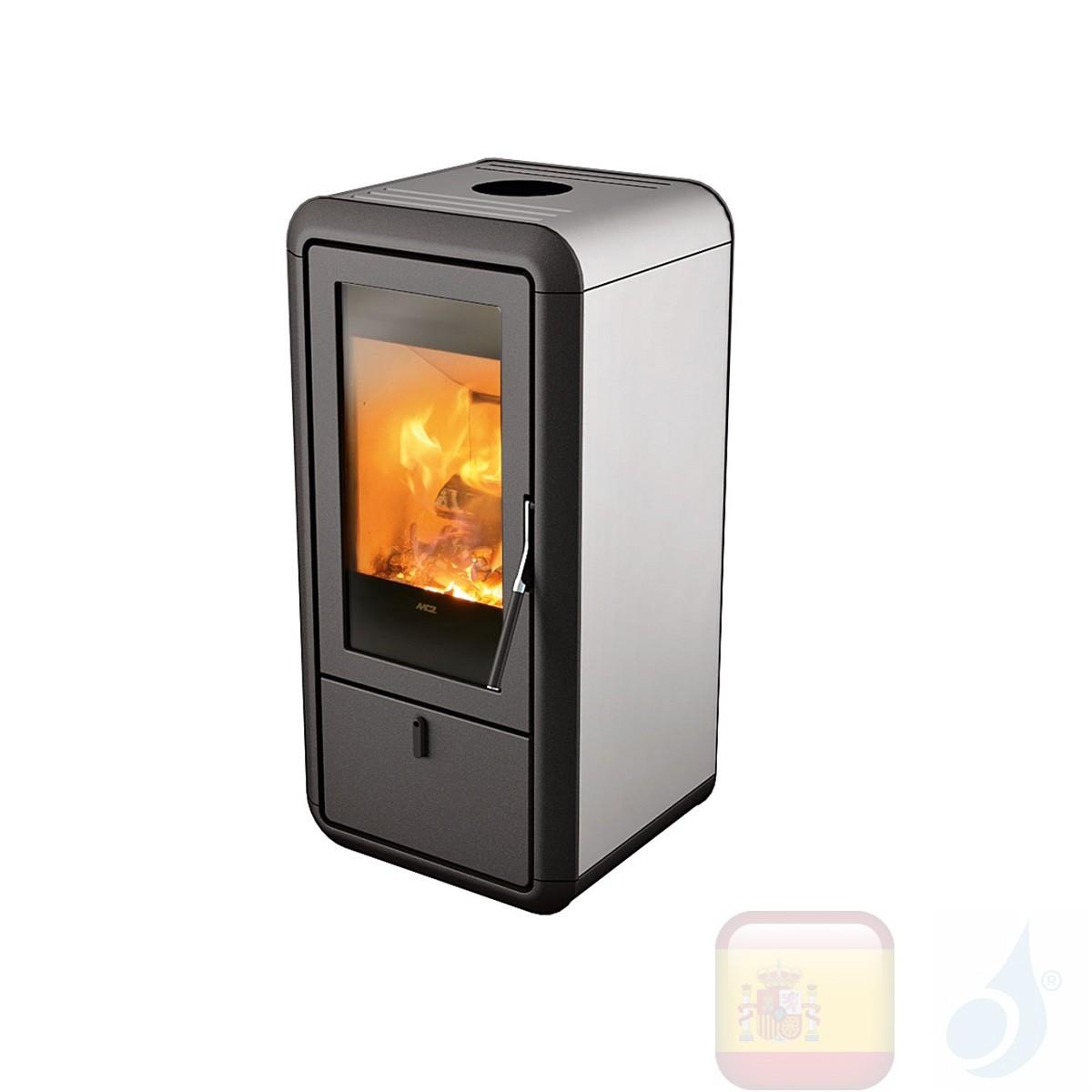 Estufa de leña MCZ 9.0 kW Kasai  Aluminio