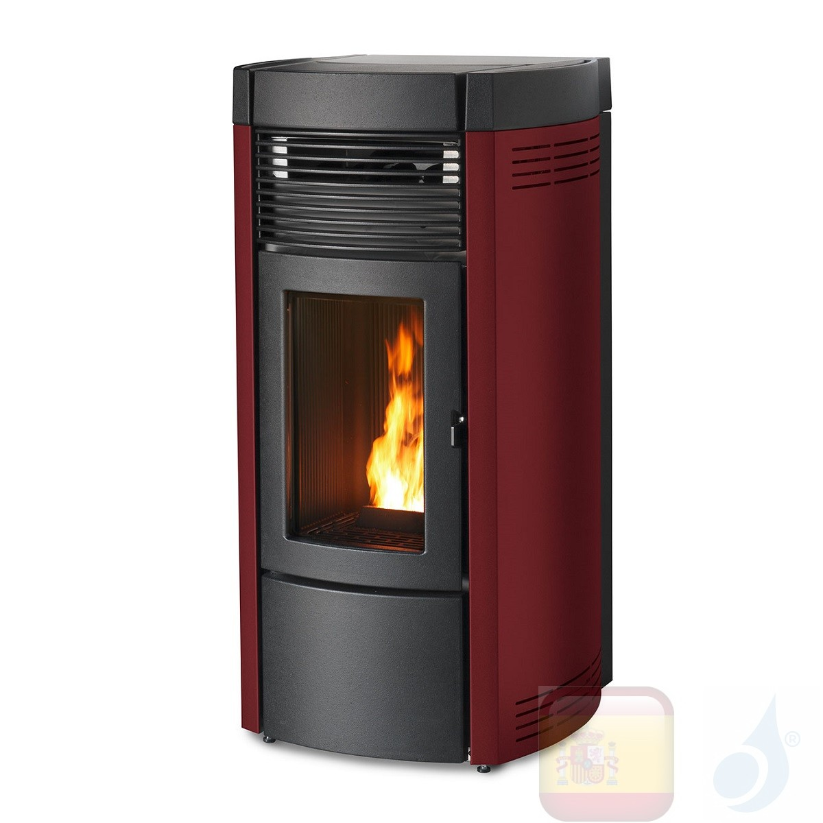 Estufa de pellets MCZ 13.9 kW Musa Comfort Air Matic 14 M1 Bordeaux