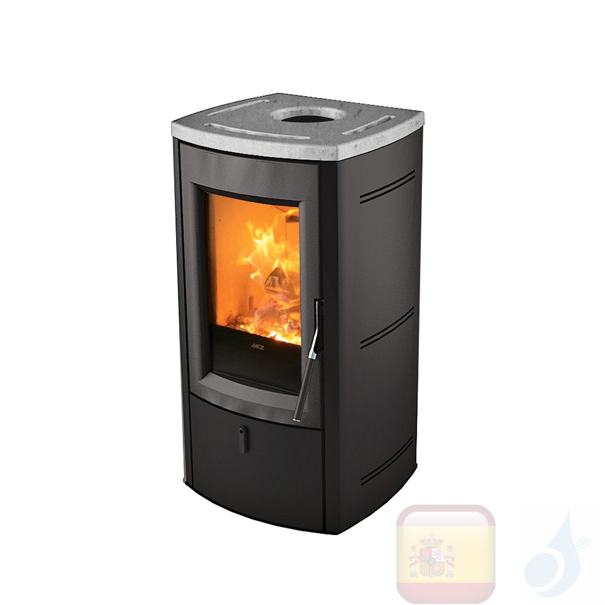 Estufa de leña MCZ 7.0 kW Nogal  Roca