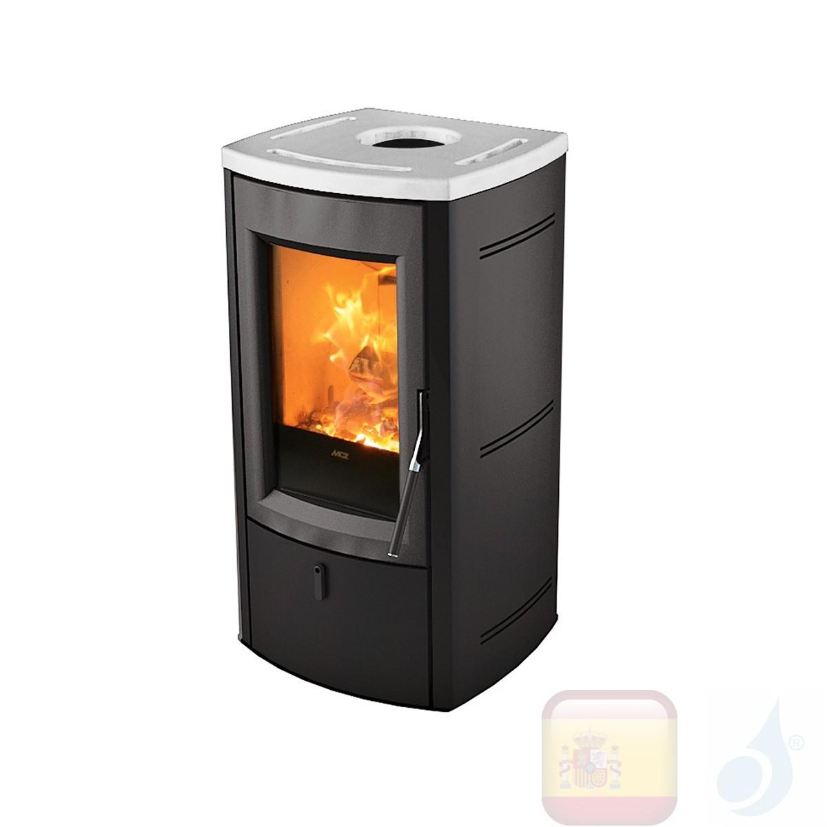 Estufa de leña MCZ 7.0 kW Nogal  Blanco