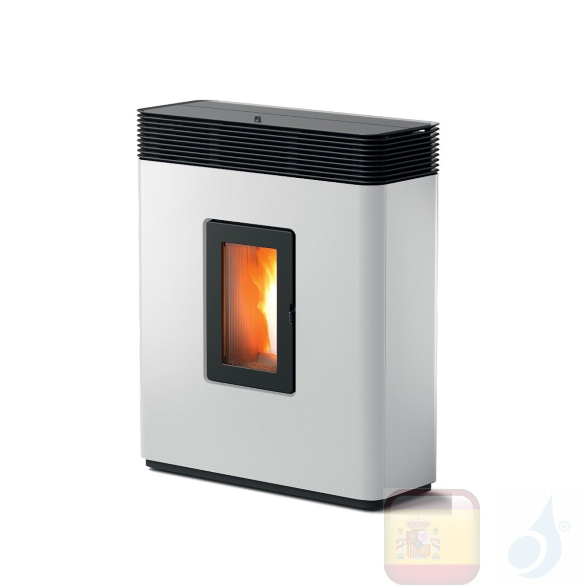Estufa de pellets MCZ 13.8 kW Philo Comfort Air 14 M1 metal Blanco