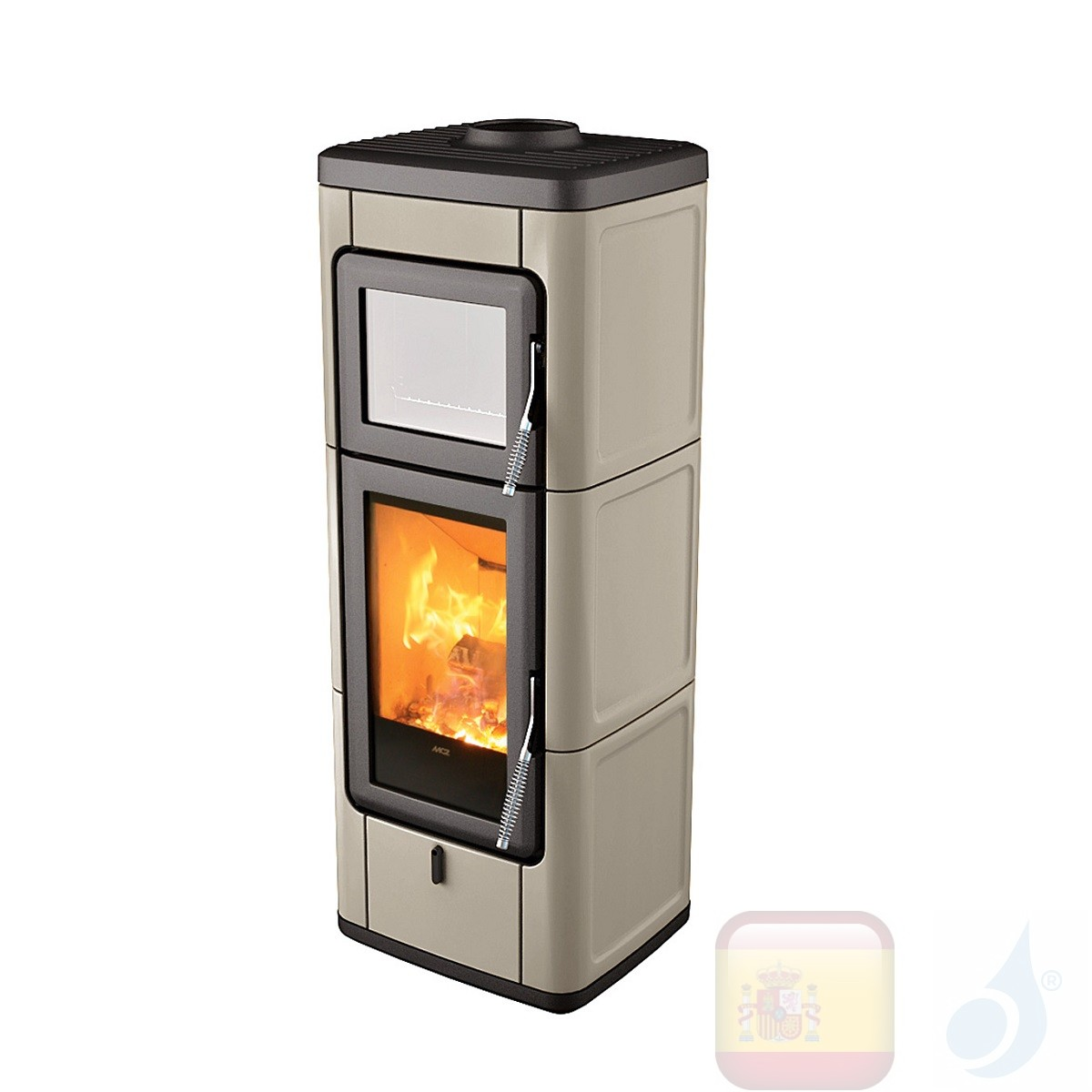 Estufa de leña MCZ 7.0 kW Sava  Gris cálido