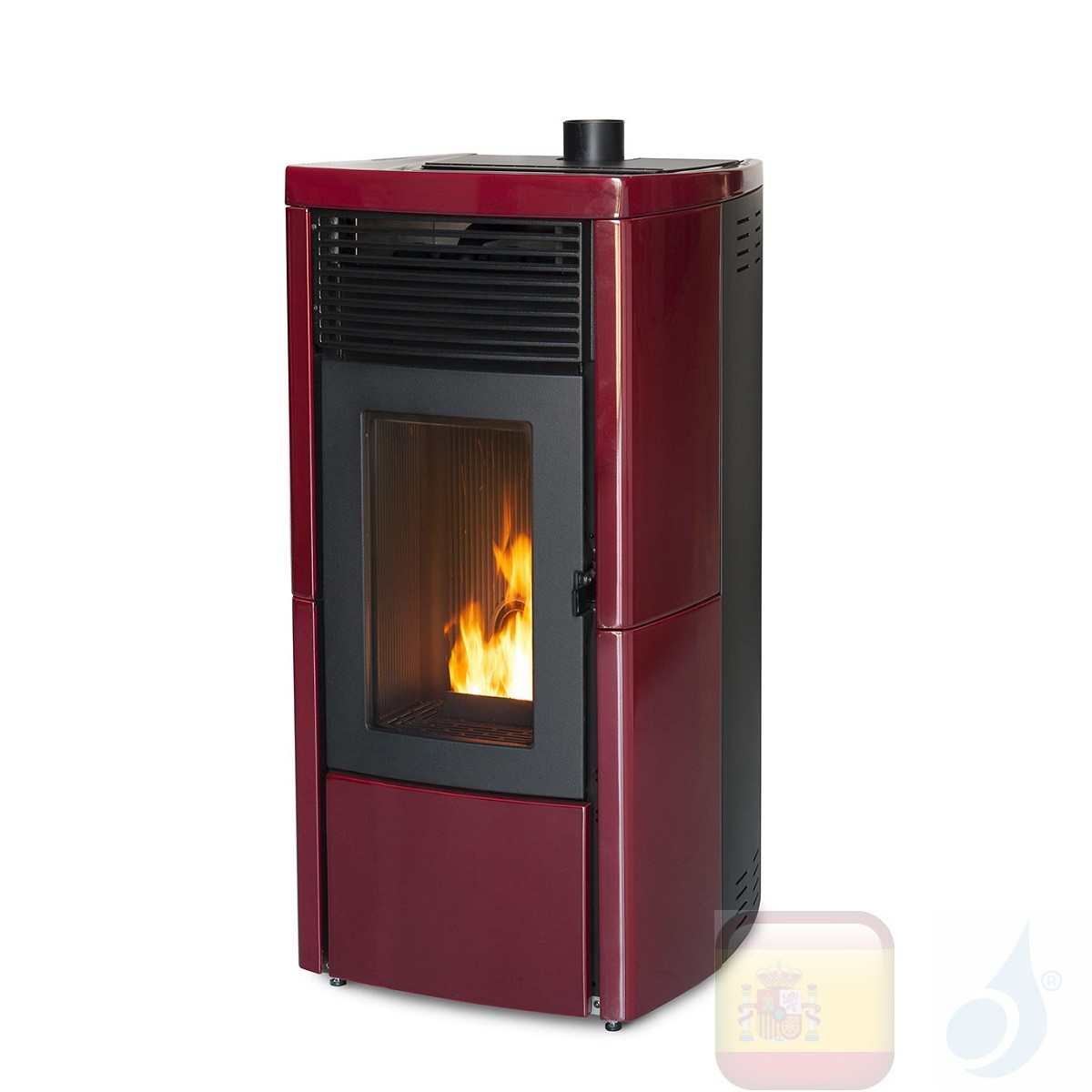 Estufa termo de pellets MCZ 11.9 kW Star Hydromatic 12 M1 Bordeaux