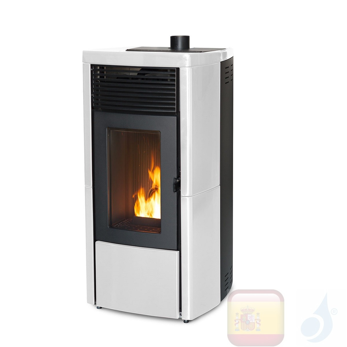 Estufa de pellets MCZ 10.0 kW Star Comfort Air 10 UP! M1 Blanco