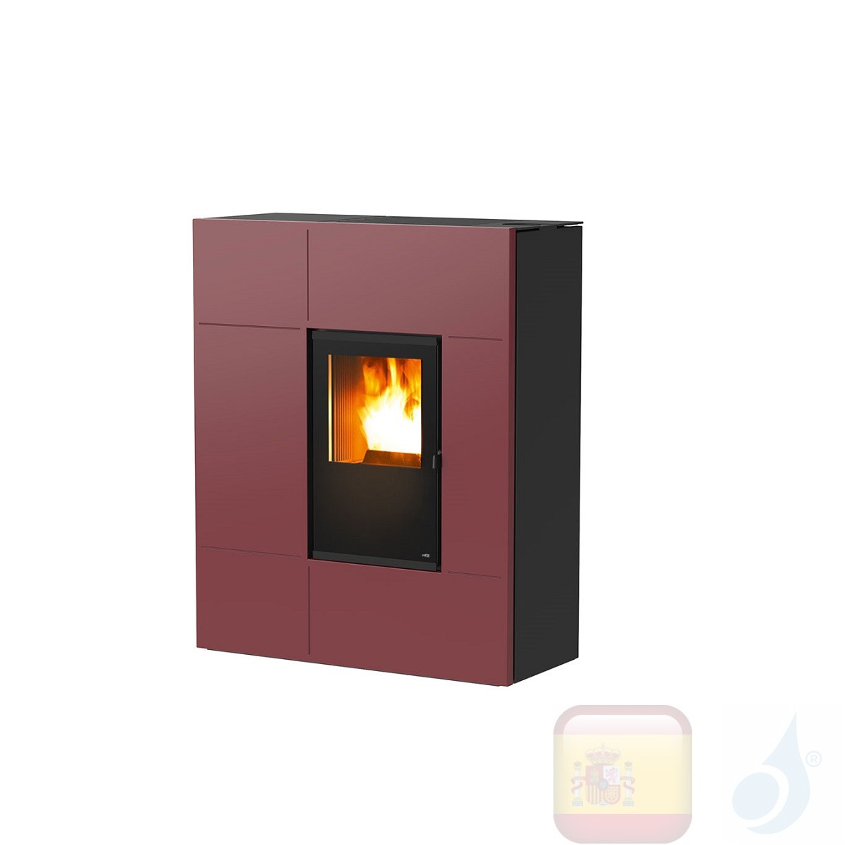 Estufa de pellets MCZ 11.9 kW Stream Comfort Air 12 M1 metal Bordeaux