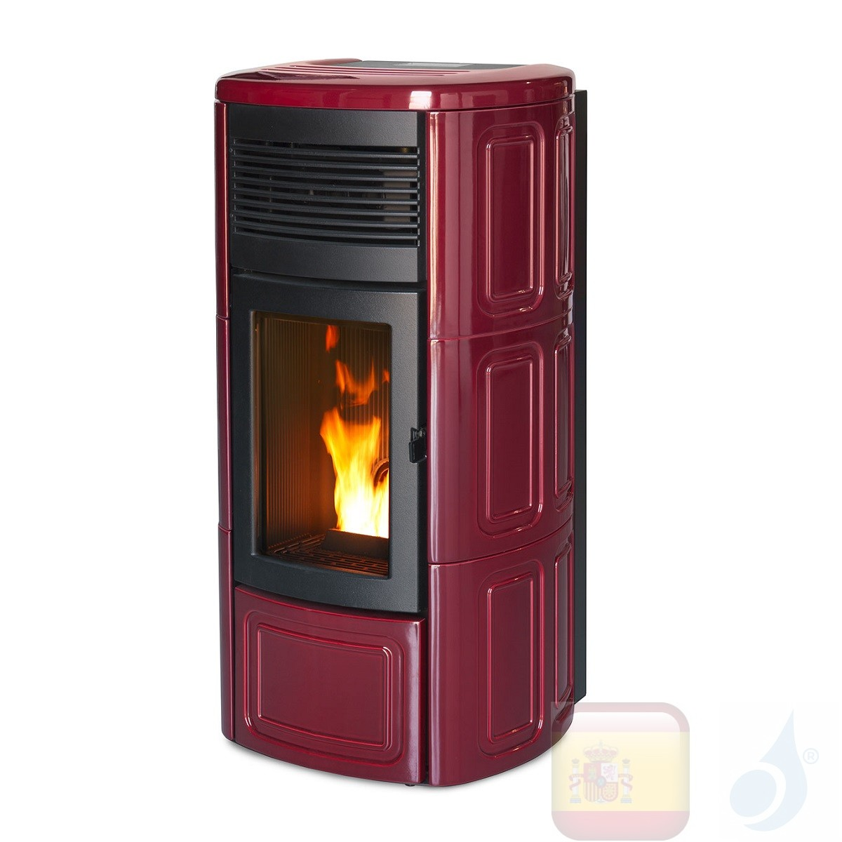Estufa de pellets MCZ 11.9 kW Suite Comfort Air 12 UP! M1 Bordeaux