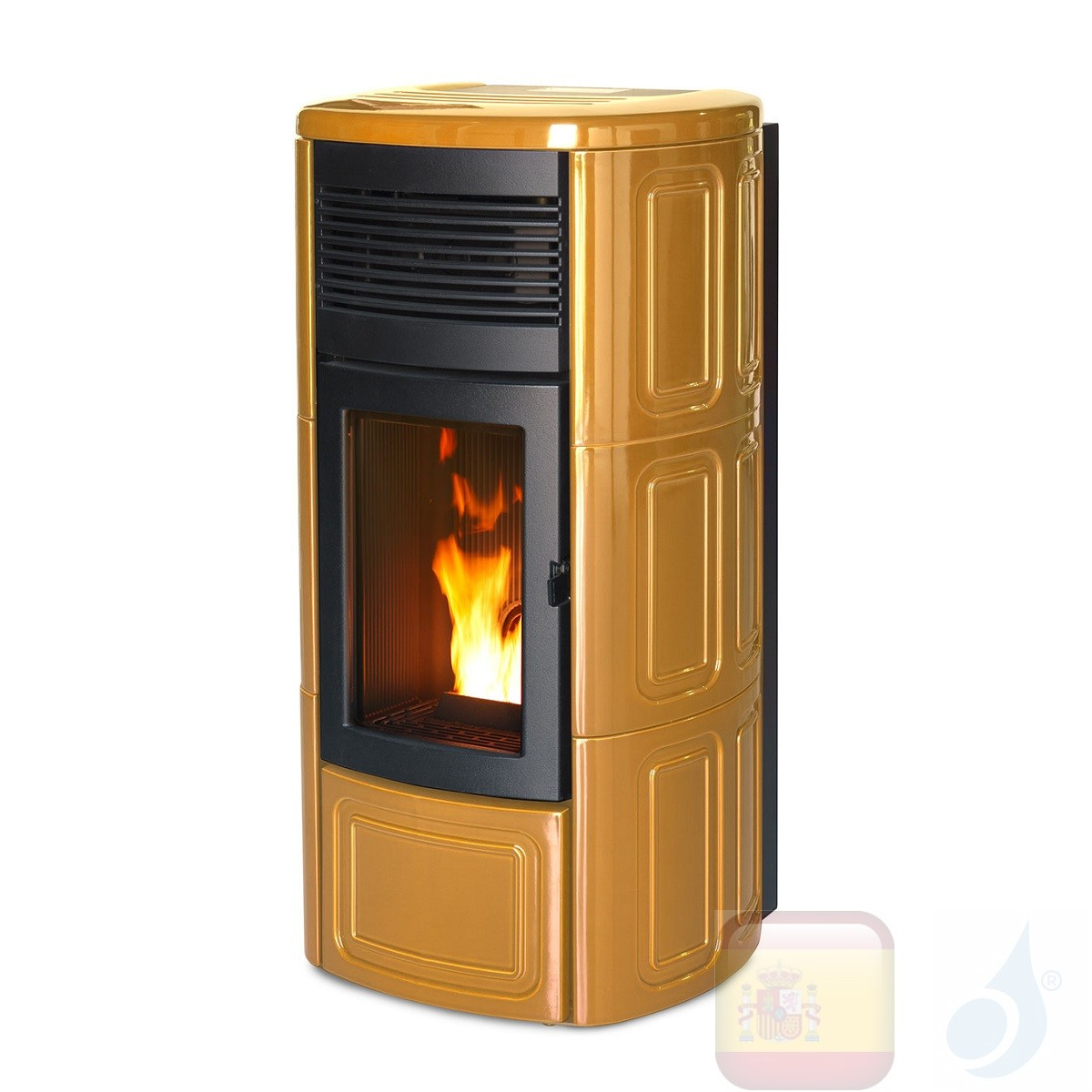 Estufa de pellets MCZ 13.9 kW Suite Comfort Air Matic 14 M1 Old Amber