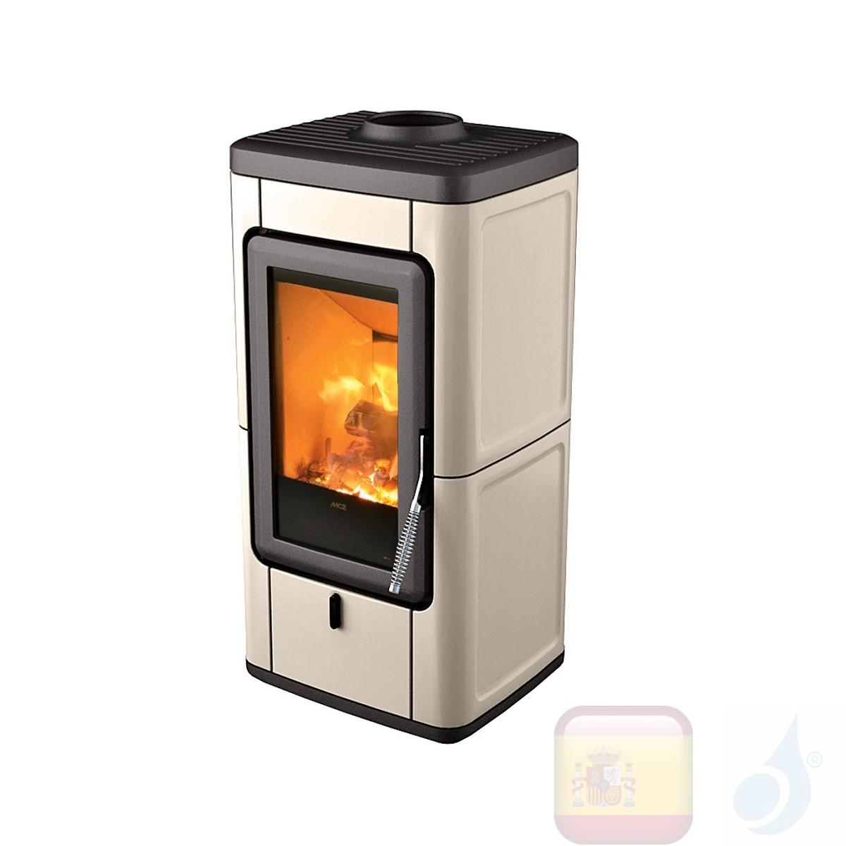 Estufa de leña MCZ 7.0 kW Veld  Gris cálido