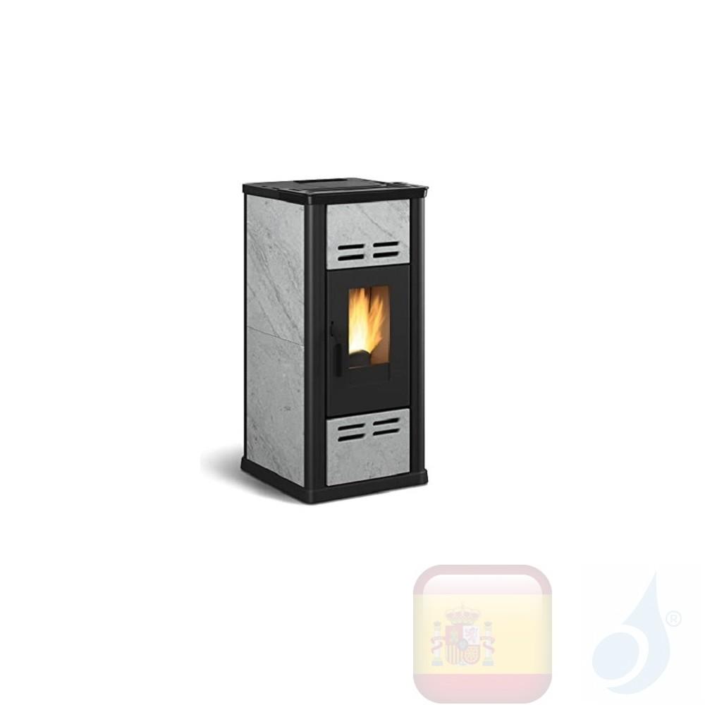 Estufa de pellets Extraflame 7.1 kW Serafina Esteatita Roca