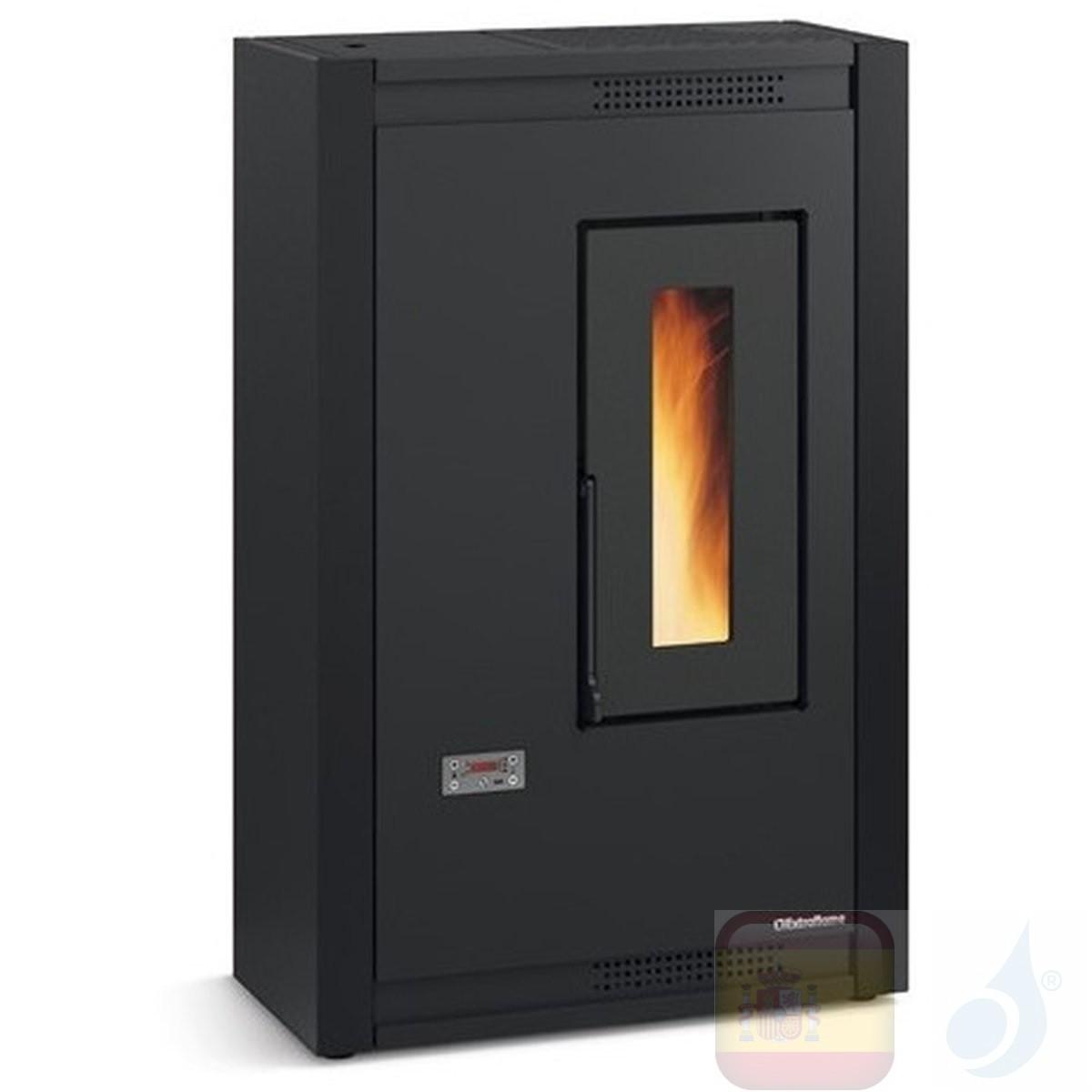 Estufa de pellets La Extraflame 4.4 kW Luisella metal Negro