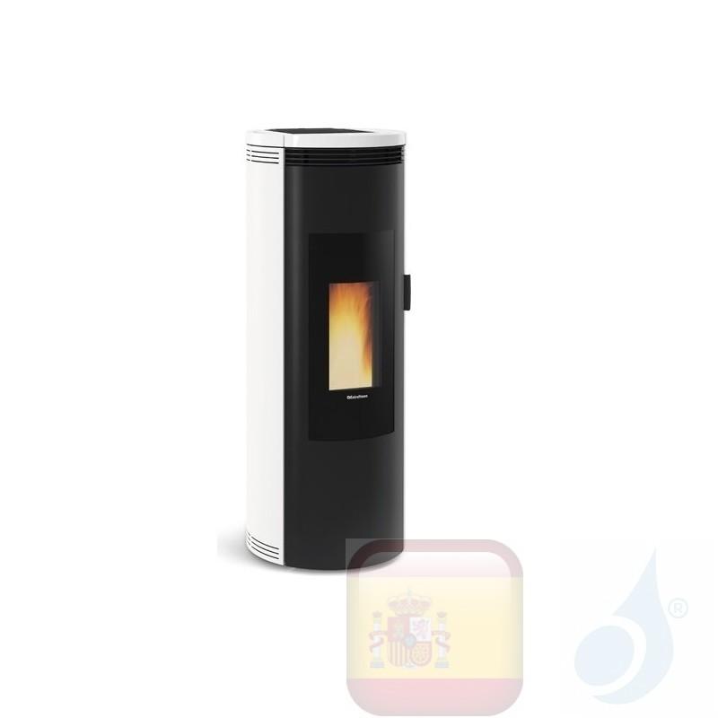 Estufa de pellets Extraflame 8.0 kW Amika cerámico Blanco