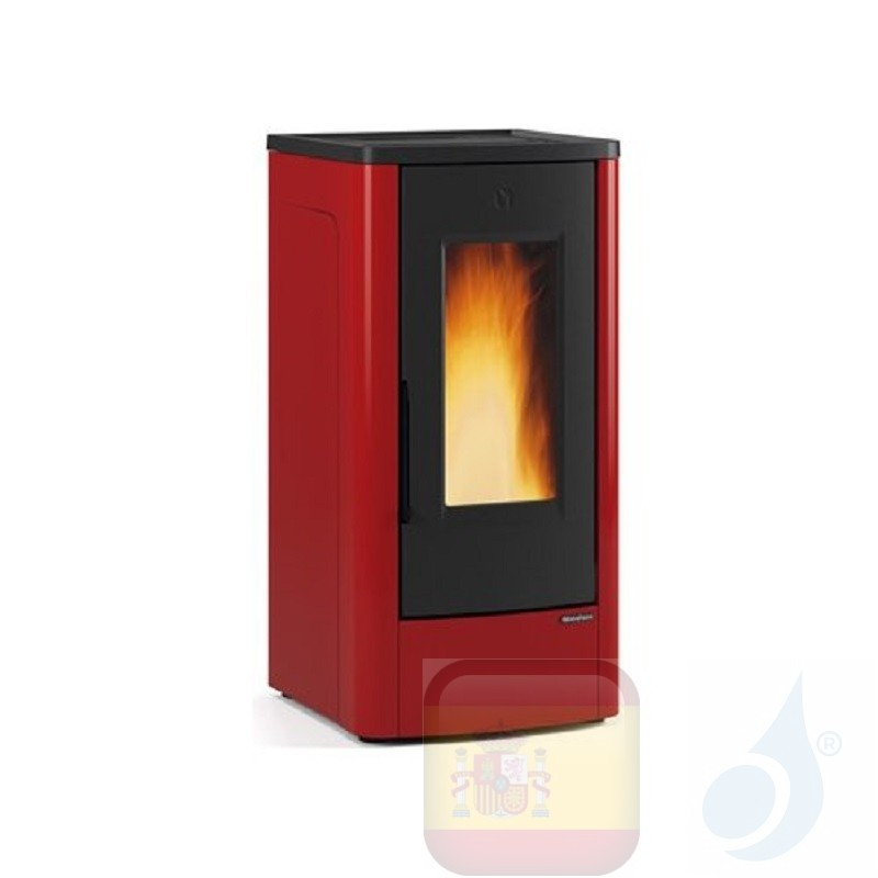 Estufa de pellets Extraflame 10.0 kW Dahiana metal Bordeaux