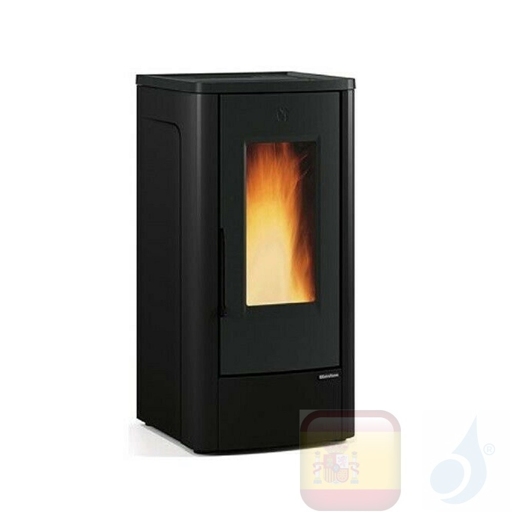Estufa de pellets La Extraflame 10.0 kW Dahiana metal Negro