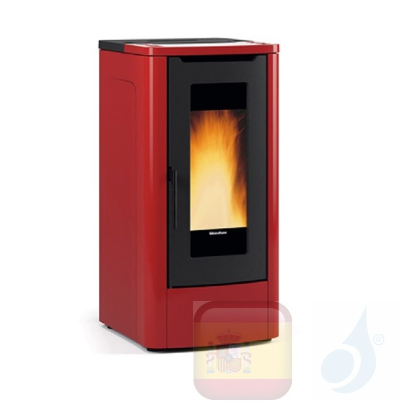 Estufa de pellets Extraflame 10.0 kW Teorema metal Bordeaux