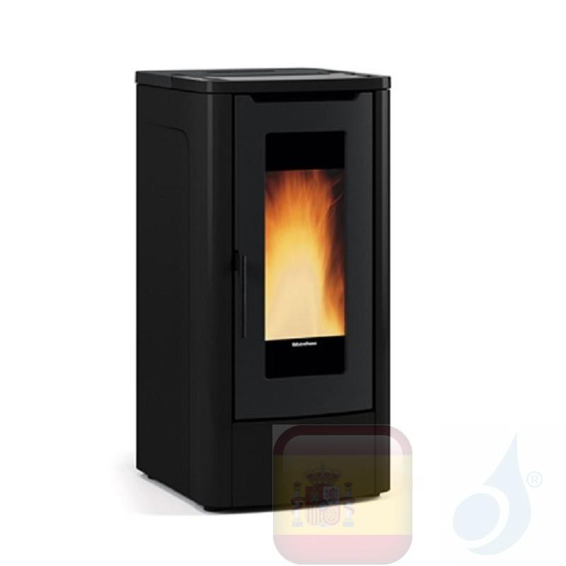 Estufa de pellets Extraflame 10.0 kW Teorema metal Negro